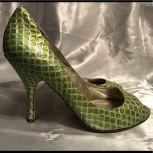 "Enzo Angiolini 3.5"" Snake Pattern Heels"